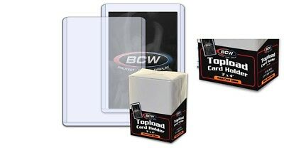NEW (10 x 25) 250- 3x4 BCW 1.5 mm 59 pt. Toploaders -Sport/Trading/Gaming Cards