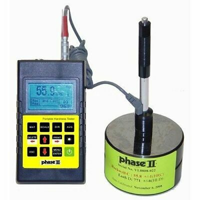 Phase II Portable Hardness Tester, 5 Yr Warranty,  NIST Traceable, #PHT-1700