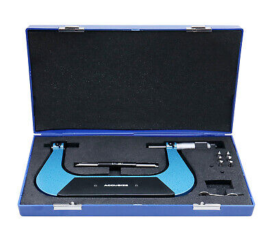 """0-6""""x0.001"""" Screw Thread Micrometer Include 3 Anvil in Fitted Case, #S916 x 6"""