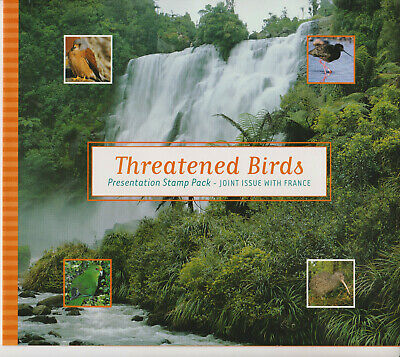 New Zealand Stamp Set Fdc Presentation Pack 2000 Threatened Birds Joint Issue