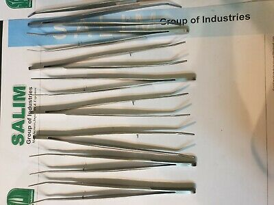 """100 X London College Tweezers 6"""" Curved Surgical Dental Instruments salim-group"""