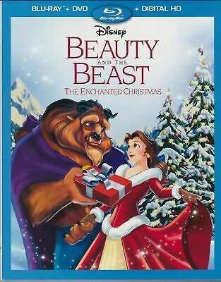 Beauty and the Beast The Enchanted Christmas (Blu-ray + DVD + Digital HD) NEW