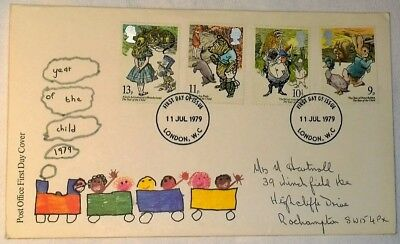 GB 1979 International Year of the Child - FDC with insert card