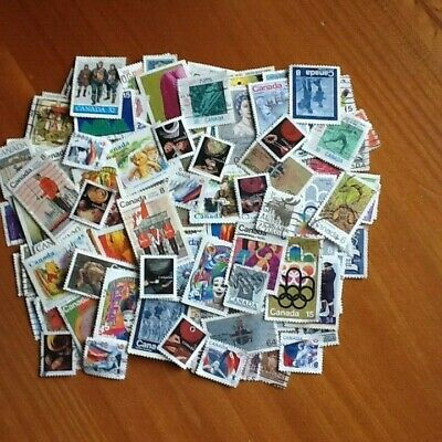 Canada Stamp Collection 16 Grams Excellent Quality Varied Off Paper Kiloware