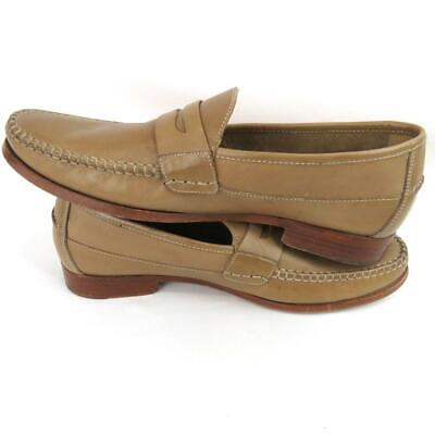 c2bab353abe JOHNSTON AND MURPHY Men s Tan Slip On Penny Loafers Shoes Size 10.5M