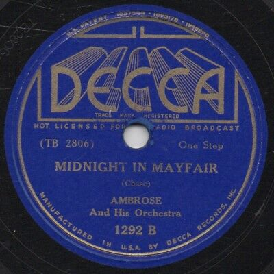 """78er British Dance Band Swing Ambrose Orchestra """"Midnight In Mayfair"""""""