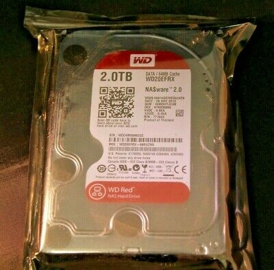 "SATA III 3.5/"" Internal NAS HDD #WD20EFRX WD Red 2TB 5400 rpm IntelliPower"