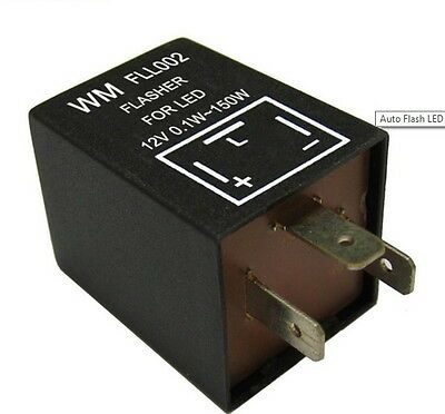 3 Pin Electronic Car Motorcycle Flasher Relay Fix LED Light Error FAST Signal EP