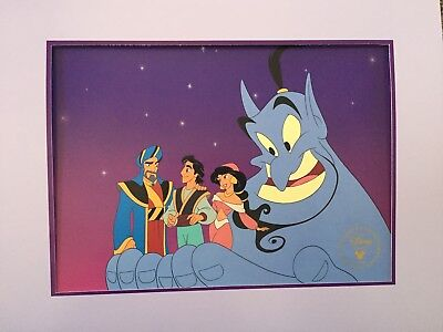 Disney Aladdin and the King of Thieves Lithograph 1996 w/ Mat and Envelope