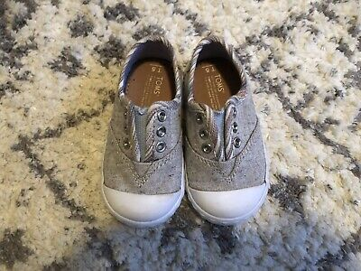 8c49234a3ff TINY TOMS BABY TODDLER Shoes- Unisex Boy Girl- Gray Slip On Casual ...