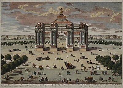 L'arc de triomphe de Louis XIV - Place de la Nation in Paris - Mariette - 1700