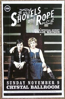SHOVELS AND ROPE 2014 Gig POSTER Portland Oregon Concert