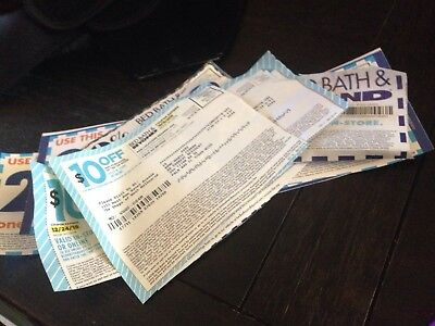 4 Bed Bath Beyond 20% Off Single Item Coupons, 2X$10 Off 30..6 Total