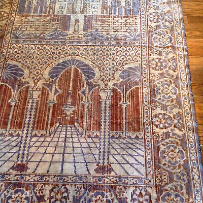 PERSIAN RUG LARGE ANTIQUE ISLAMIC ORIENTAL Caucasian PRAYER ARABIC MUSLIM estate