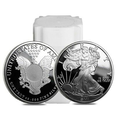 Roll of 20 - Walking Liberty Design Sunshine 1 oz. .999 Fine Silver Round