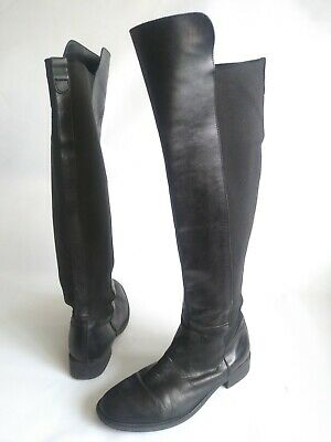 12b37f885ea ANTHROPOLOGIE ABROAD SEYCHELLES Black Over The Knee Riding Boots Womens  Size 8