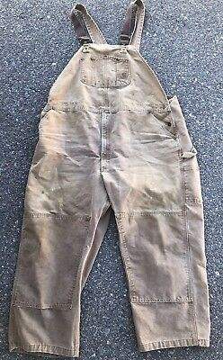 8560f7f5721 Carhartt Sandstone Duck Bib Overalls Men's 50 X 32 Unlined R06 CHT Dark  Brown