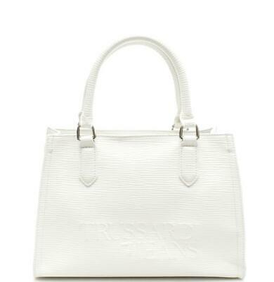 74896a55a0 BORSA DONNA Trussardi Jeans t-tote md saffiano high frequency OFF WHITE  75B00684
