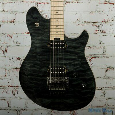 d25dfec5d70 2016 EVH Wolfgang Standard Electric Guitar Quilted Maple Charcoal (USED)