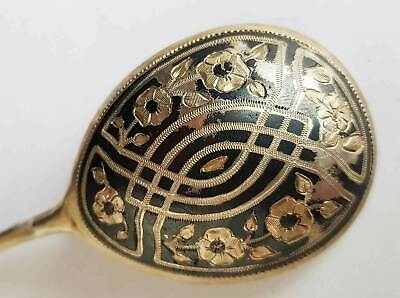 Russian Niello Sterling Silver Spoon, Marked