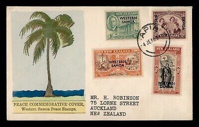Dr Who 1962 New Zealand Western Samoa Peace Stamps Fdc C90613