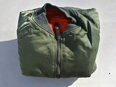 US Air Force Reversible MA-1 Flight Jacket Size Large - 1982 - Excellent