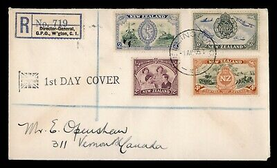 Dr Who 1946 New Zealand Registered Fdc C91378