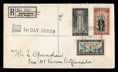 Dr Who 1946 New Zealand Registered Peace Fdc C91379