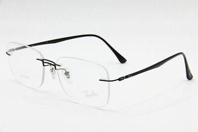 5843dfc465a7c New Ray-Ban Rb 8750 1128 Black Authentic Eyeglasses Frame Rb8750 56-17 W