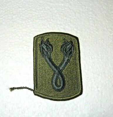 U S Army Patch - 196th Infantry Brigade Embroidered Subdued
