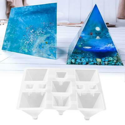 DIY Pyramid/Conical Shape Silicone Mold Resin Casting Jewelry Making Mould Tray