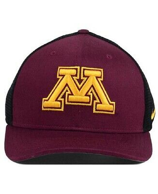 sneakers for cheap 72e45 a9a33 NIKE Minnesota Golden Gophers NEW Dri Fit Aerobill Fitted Hat Cap 034197 M L   28