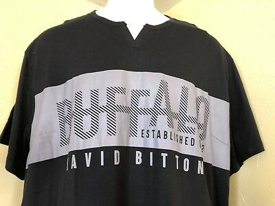 NWT Buffalo Daivd Bitton Men's Black Graphic S/S T-Shirt Size 3XL, XXXL