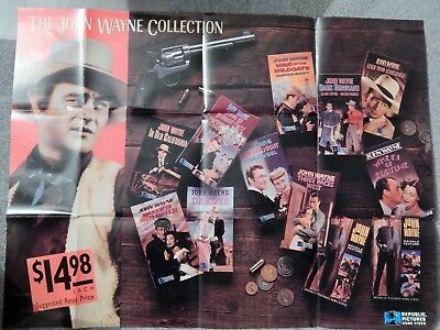 John Wayne Collection (Video Dealer Full-Size 36 X  27 Poster!, 1991) Dakota
