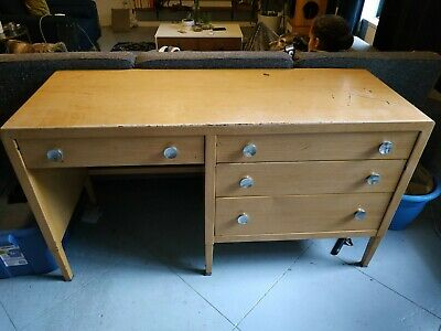 Norman Bel Geddes Desk Designed and Manufactured by Simmons Furniture