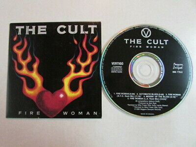 The Cult Fire Woman 5 Trk Canada Cd Single Nyc/L.a. Rock Extended Mixes Rare Oop