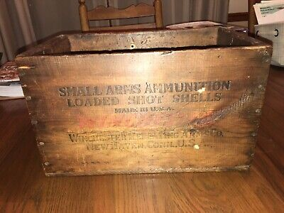 Antique Winchester Wooden Ammo Box