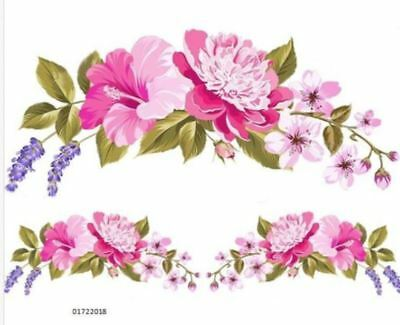 VinTaGe IMaGe XXL PinK FLoWeR SHaBbY WaTerSLiDe DeCAL FuRNiTuRe SiZe