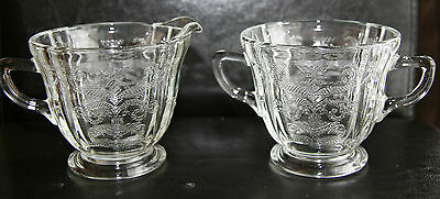 Vintage Indiana Glass Recollection Cream & Sugar Set