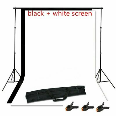 Adjustable Photography Photo Background Backdrop Support Stand Kit 10ft x 5ft WN