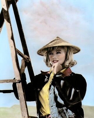 """MARILYN MONROE THE MISFITS 1961 HOLLYWOOD ACTRESS 8x10"""" HAND COLOR TINTED PHOTO"""