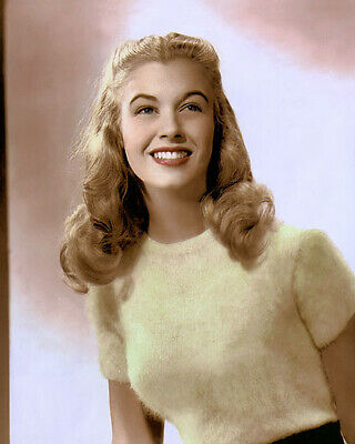 """PEGGY DOW HOLLYWOOD MOVIE STAR ACTRESS 8x10"""" HAND COLOR TINTED PHOTOGRAPH"""