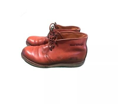 e4dac3a04af DISTRESSED VINTAGE MADE In Usa Red Wing Brown Oil Rig Engineer Boots ...