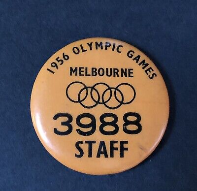 Vintage Melbourne 1956 Olympics Games Official Staff Pin Badge