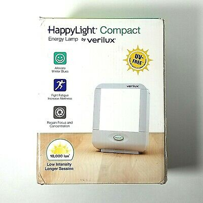 Verilux HappyLight Compact Portable Light Therapy Energy Lamp 10000 Lumens VT-10