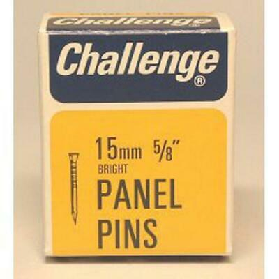 Challenge Panel Pins - Bright Steel - Box Pack 40g - 15mm