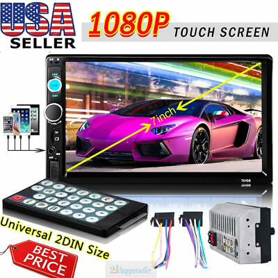 """7"""" Double 2Din Bluetooth HD Car Stereo Radio FM/MP5 Player Touch Screen In-Dash"""