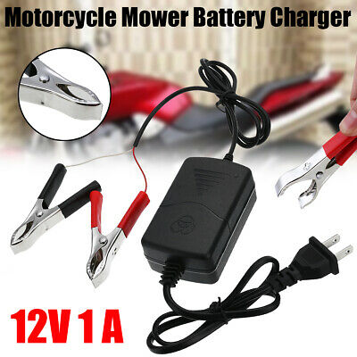 Battery Charger Maintainer 12V 1A Volt Trickle For RV Car Truck Motorcycle Mower