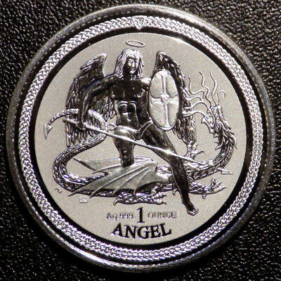 2016 Isle of Man Angel 1 oz .999 Fine Silver coin Reverse Proof