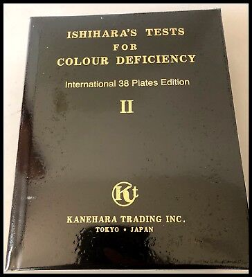 Brand New & Original Ishihara Color Tests (38-plate test book) Still Boxed!